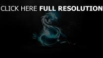 dragon néon foncé