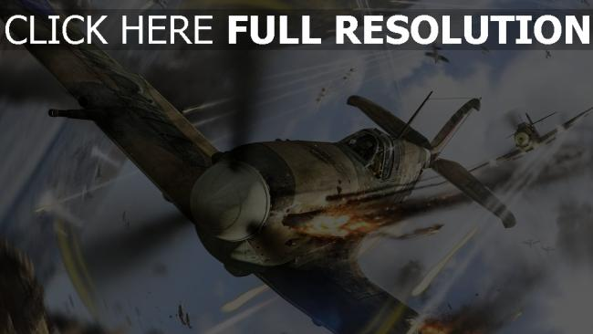 fond d'écran hd war thunder fighter tirer combat