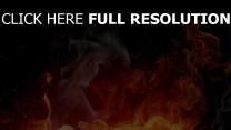 flamme fumée arrière-plan