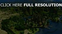 minecraft village vue aérienne