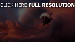 aérostat nuage planète merveilleux