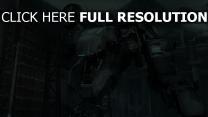 robot nuit futuriste