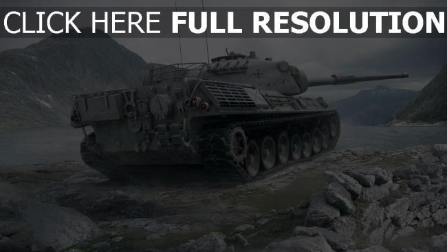 fond d'écran hd world of tanks réservoir tigre montagne