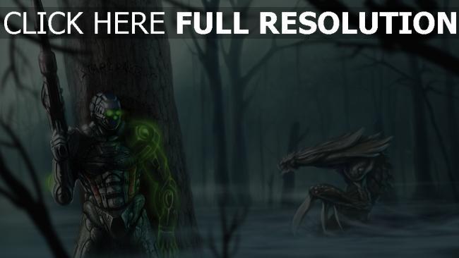 fond d'écran hd starcraft 2 fantôme forêt hydralisk