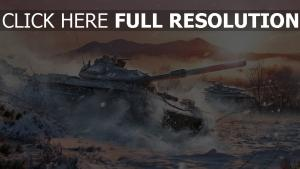 world of tanks hiver japon stb 1 réservoir