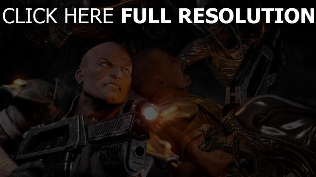 fond d'écran hd alien vs predator fusil d'assaut monstre
