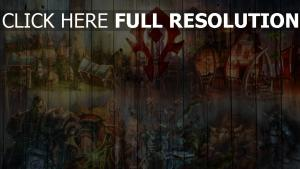 world of warcraft graffiti clôture orque