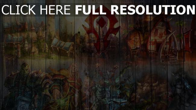 fond d'écran hd world of warcraft graffiti clôture orque