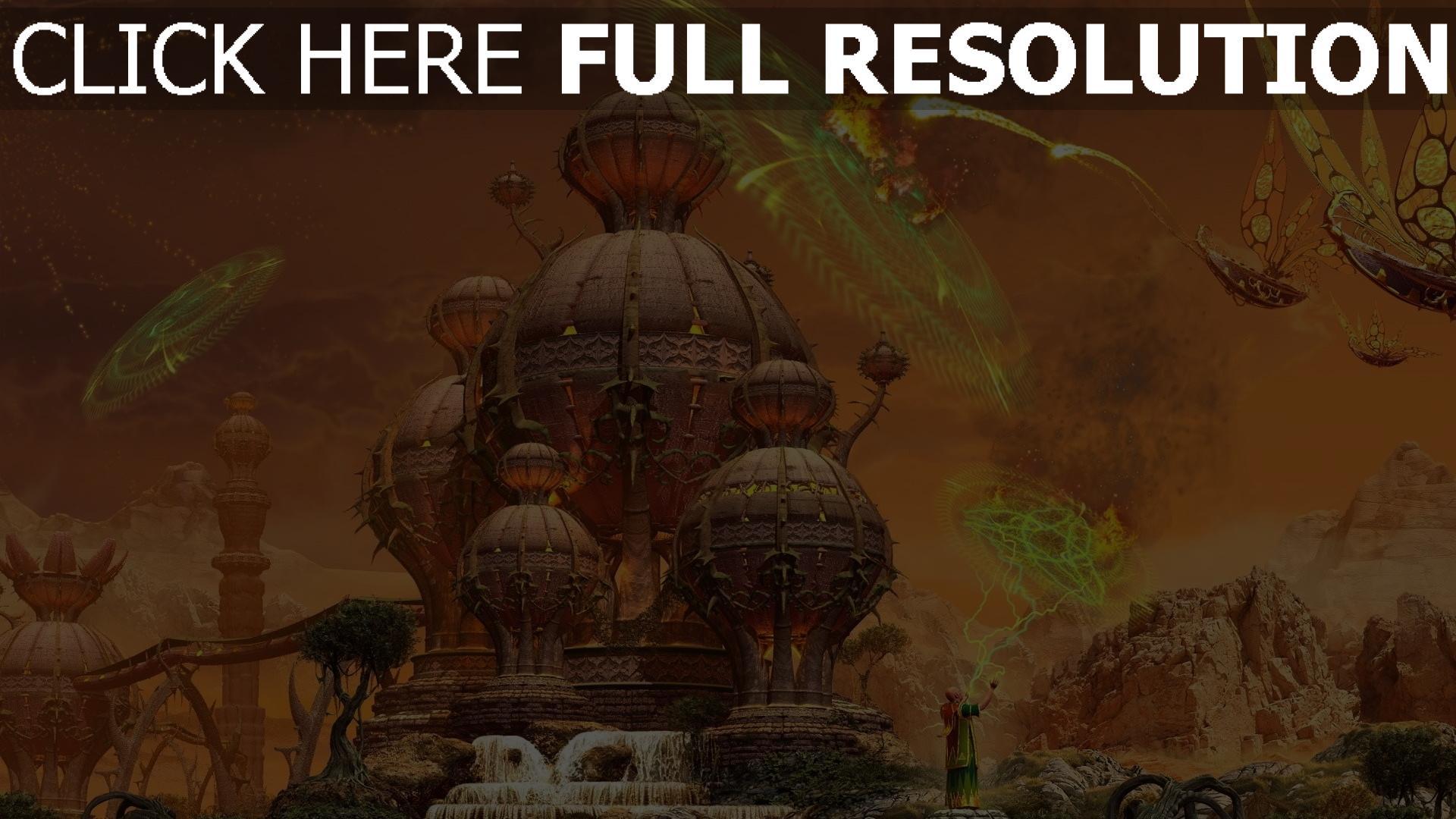 Fond d'écran HD mansion sphère sort de magie combat