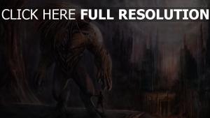mutant humain mégalopole flou