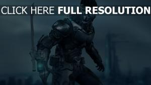cyborg lame armure énergétique