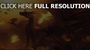 dragon bataille grand lance