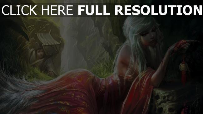 fond d'écran hd blond pensif robe forêt