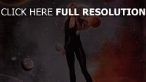 blond combinaison de cuir planète terre