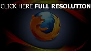 firefox logo de la marque courbe
