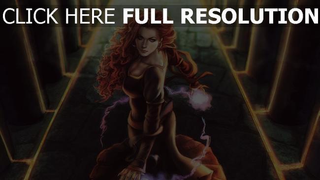 fond d'écran hd roux robe sort de magie triss merigold peinture