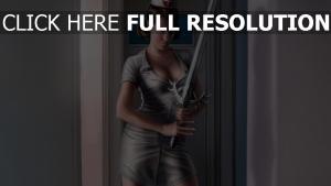 infirmière épée à deux mains uniforme