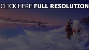 enchanteresse sceptre mer hiver