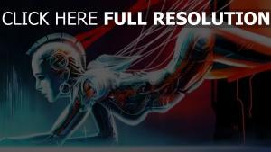robot visage câble mecanisme