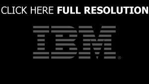 ibm logo de la marque foncé