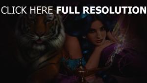 princesse jasmine bijou visage tigre