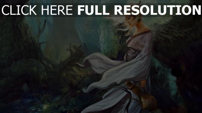 fond d'écran hd blond forêt regard solitaire
