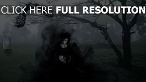 cimetière fantôme foncé fumée