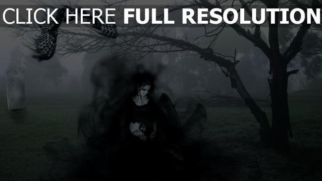 fond d'écran hd cimetière fantôme foncé fumée