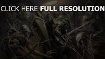 chevalier combat morts-vivants crypte