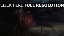 nécromancien dragon sort de magie vol