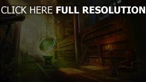 illuminée sphère bibliothèque ancien rayon