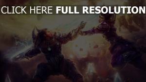 combat énergie épée saut