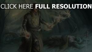 champ de bataille magicien mace fantôme