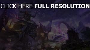 world of warcraft orque sort de magie foudre