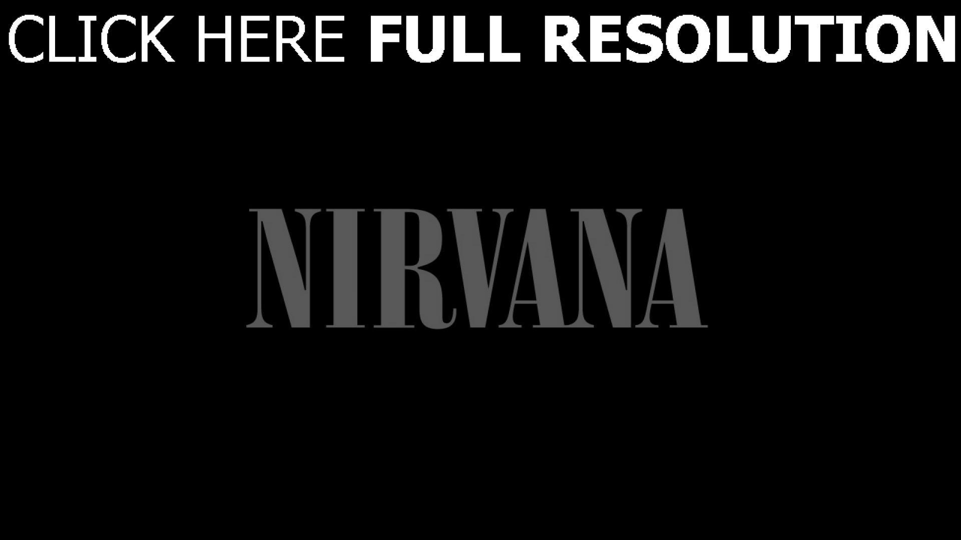 Assez Télécharger 1920x1080 Full HD Fond d'écran nirvana logo de la  HE12