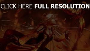 elfe oiseau magie plume
