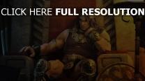 barbare trône puissant