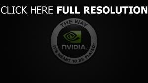 nvidia logo de la marque