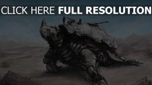 tortue grand mecanisme desert