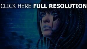 visage regard tatouage réalité augmentée