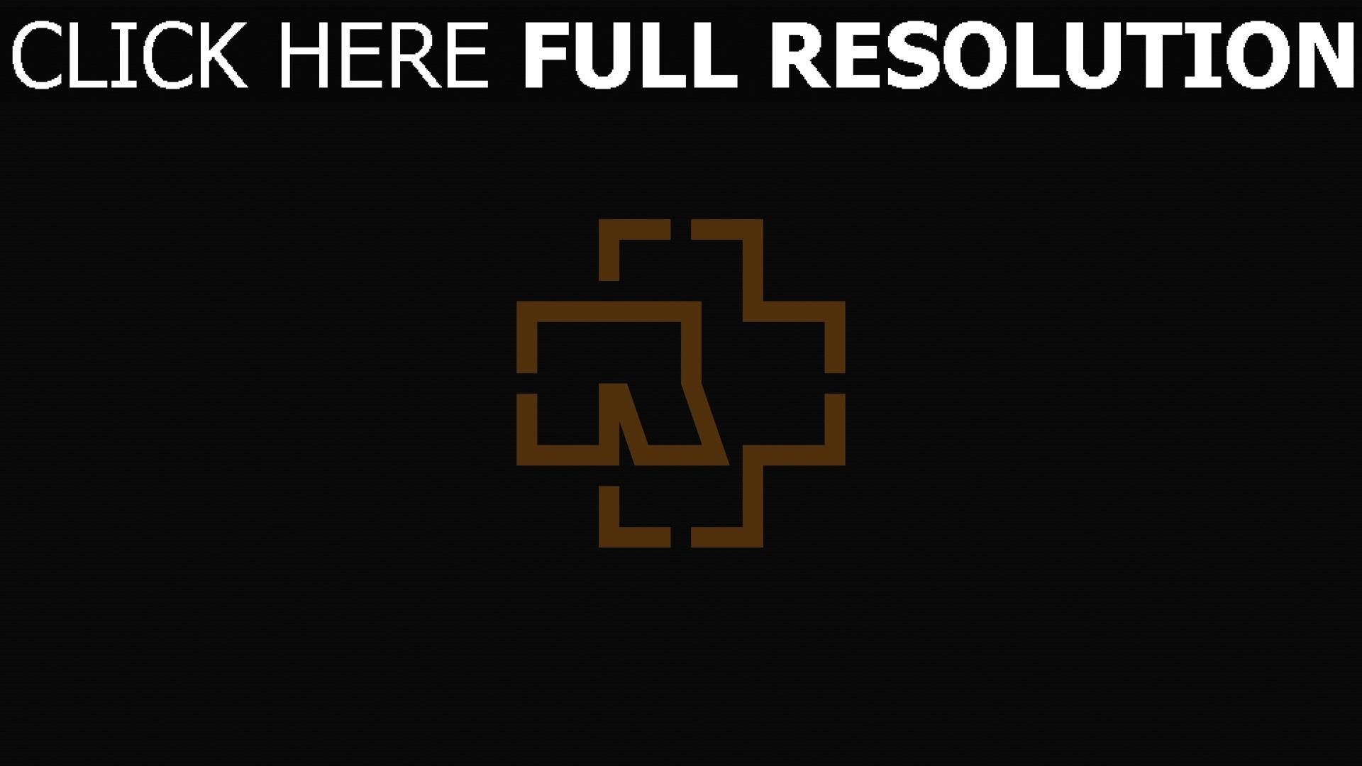 T l charger 1920x1080 full hd fond d 39 cran rammstein logo for Fond ecran marque