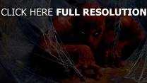 homme araignée masque gros plan super-héros