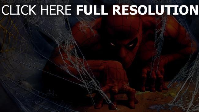 fond d'écran hd homme araignée masque gros plan super-héros