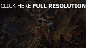 morts-vivants bataille squelette chevalier