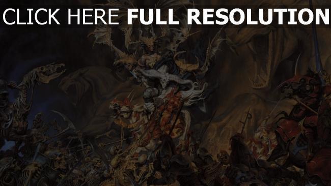 fond d'écran hd morts-vivants bataille squelette chevalier