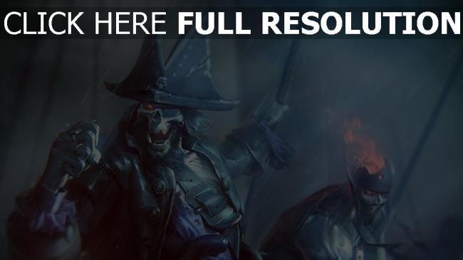 fond d'écran hd squelette pirate averse