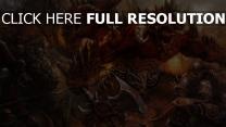 démon bataille ax martiale chevalier