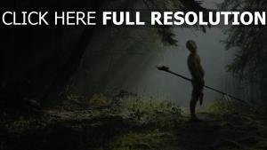 gobelin bois lance forêt rayon