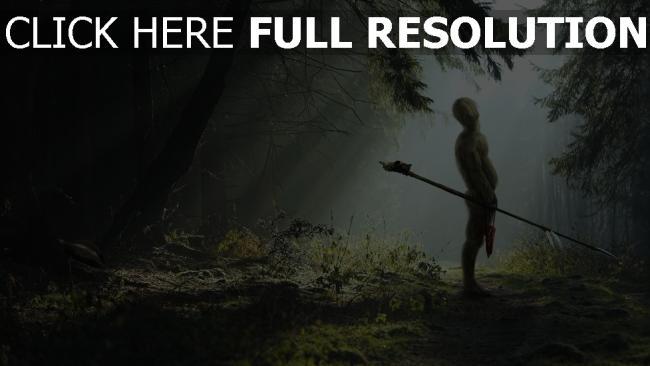 fond d'écran hd gobelin bois lance forêt rayon