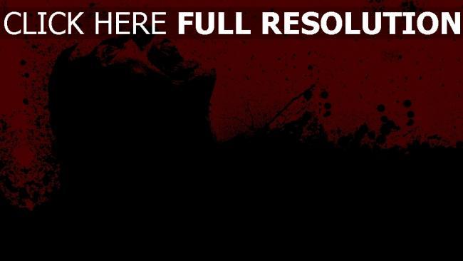 fond d'écran hd visage noir rouge graffiti